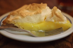 Pie slice lemon merengue CC